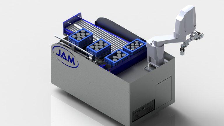 JAM stellt auf der SPS in Nürnberg kompakte Robotertechnik zur Bestückung von Werkzeugmaschinen vor