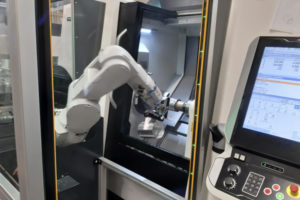 """Kompakte Robotertechnik """"Maschinen Bestückung"""""""